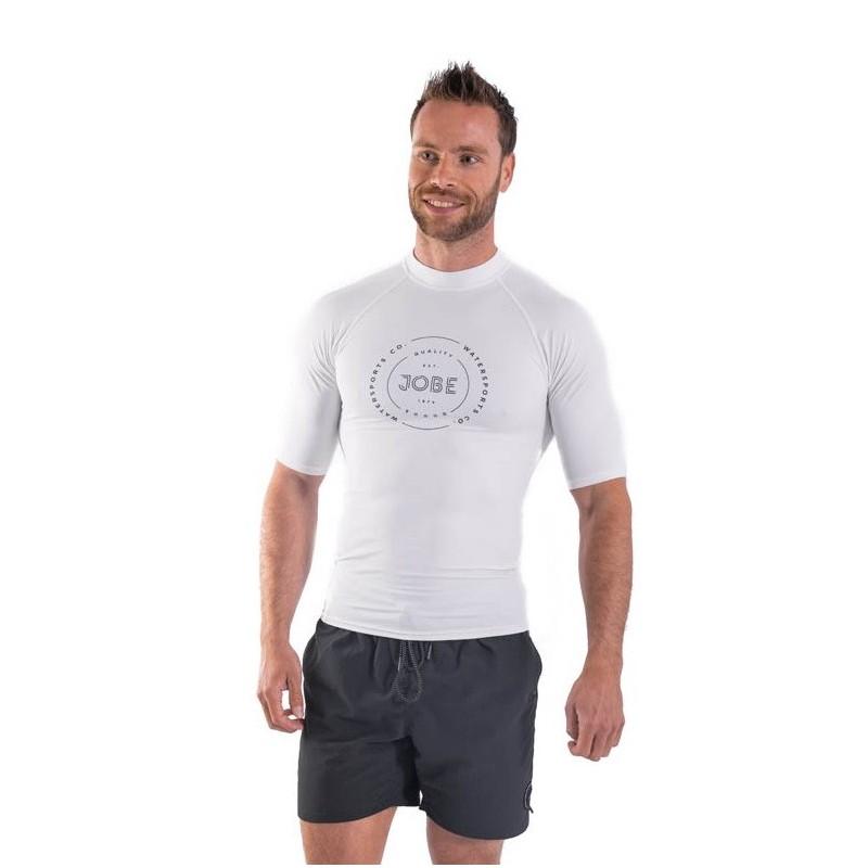 Maglietta  uomo in lycra JOBE RASH GUARD white